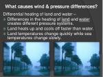 what causes wind pressure differences