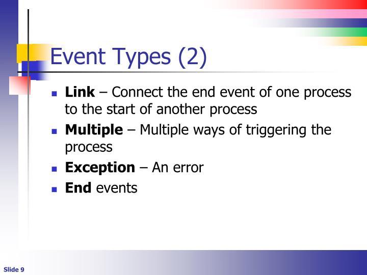 Event Types (2)