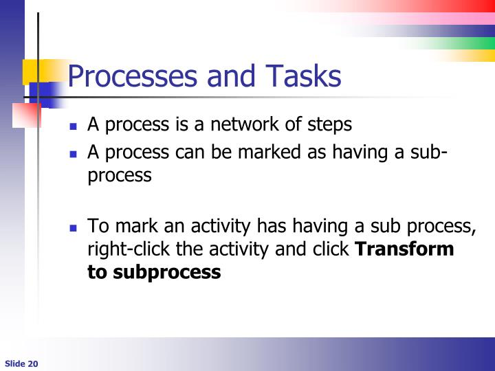 Processes and Tasks