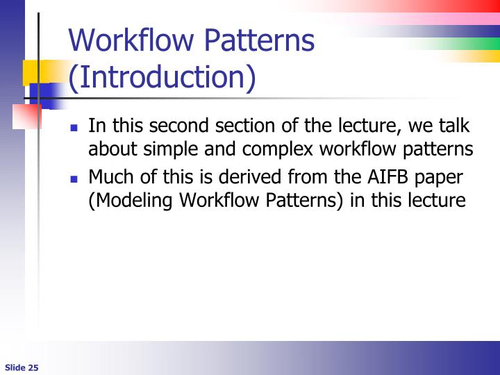 Workflow Patterns (Introduction)