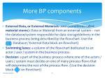 more bp components