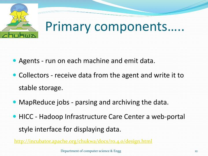 Primary components…..