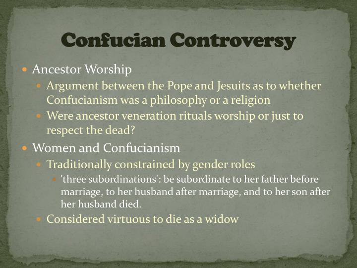 Confucian Controversy