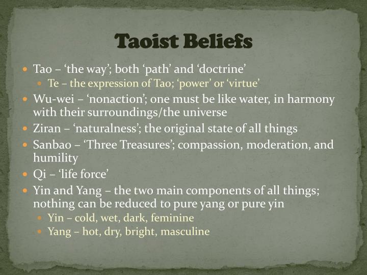 Taoist Beliefs