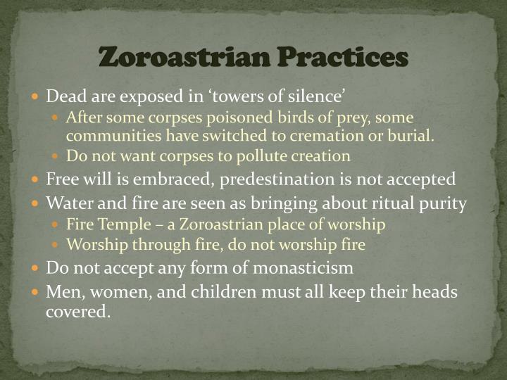 Zoroastrian Practices