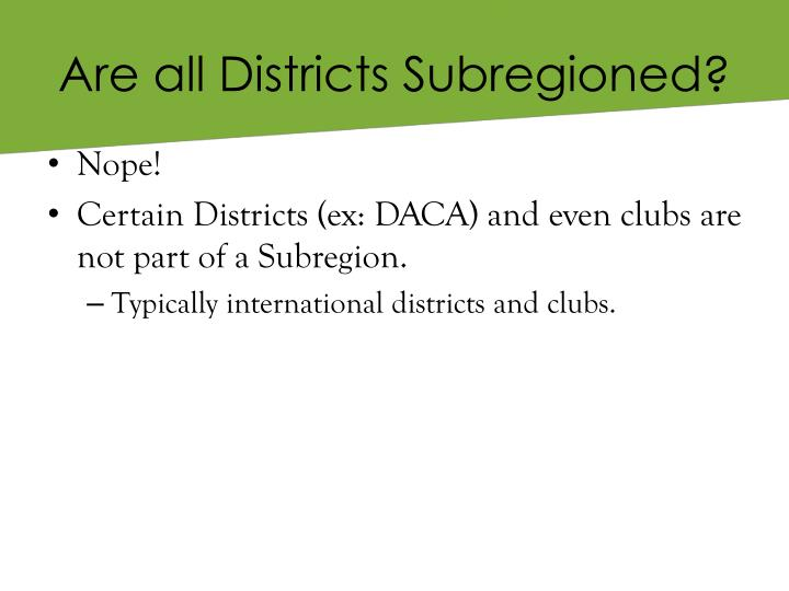 Are all Districts