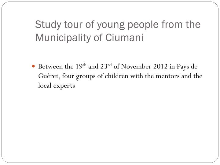 Study tour of young people from the Municipality of