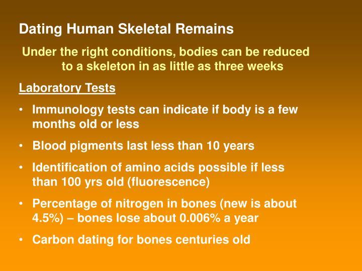 Dating Human Skeletal Remains
