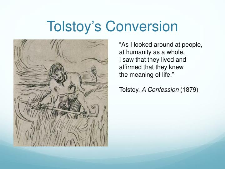 Tolstoy's Conversion