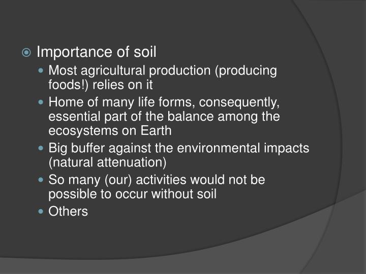 Importance of soil