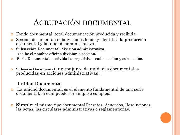 Agrupación documental