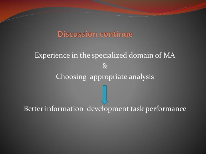 Discussion continue