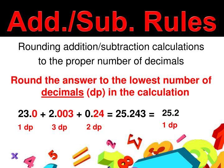 Add./Sub. Rules