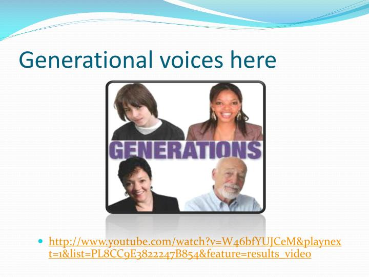 Generational voices here