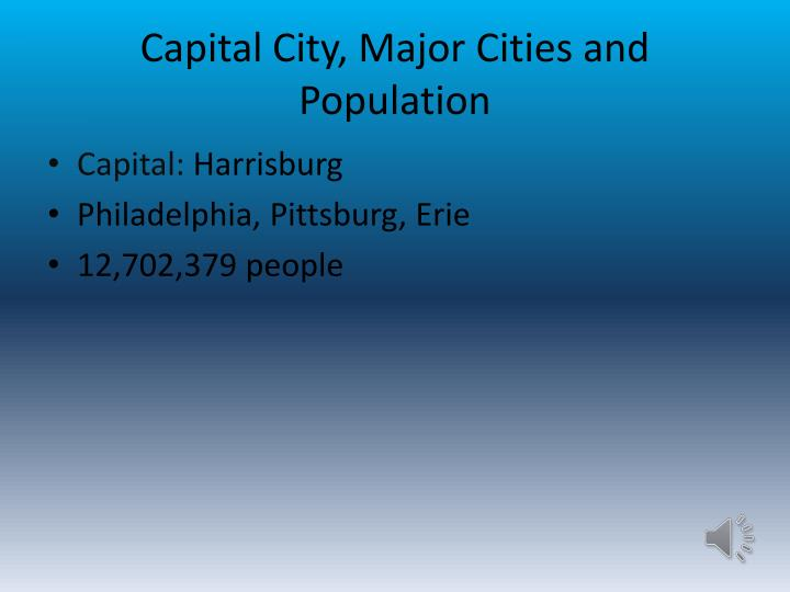 Capital city major c ities and population
