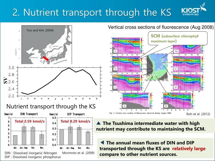 2. Nutrient transport through the KS