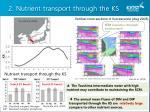 2 nutrient transport through the ks