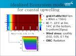 idealized ecosystem model for coastal upwelling