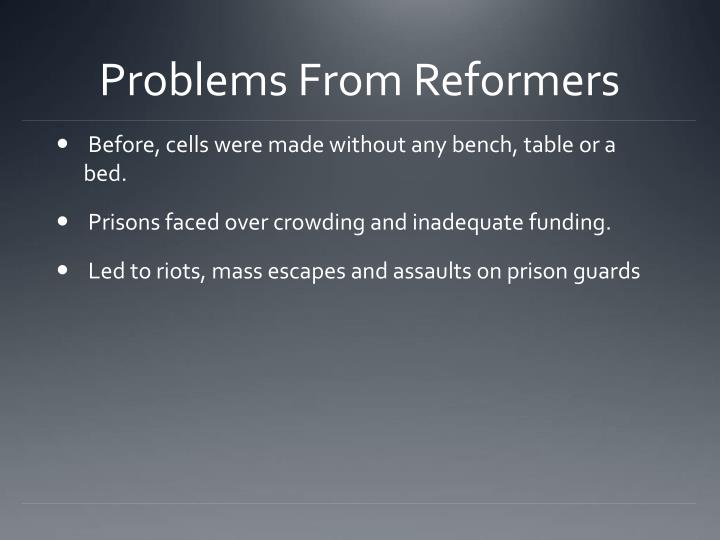 Problems from reformers