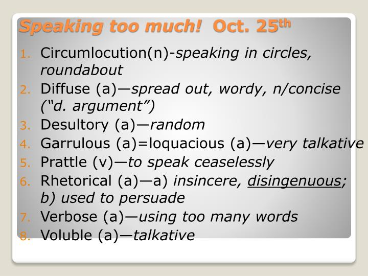 Circumlocution(n)-