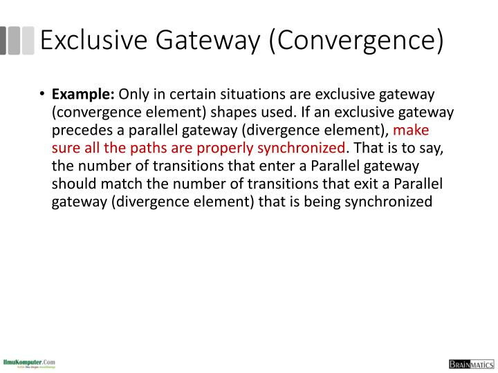 Exclusive Gateway (Convergence)