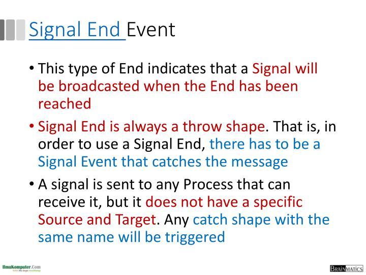 Signal End