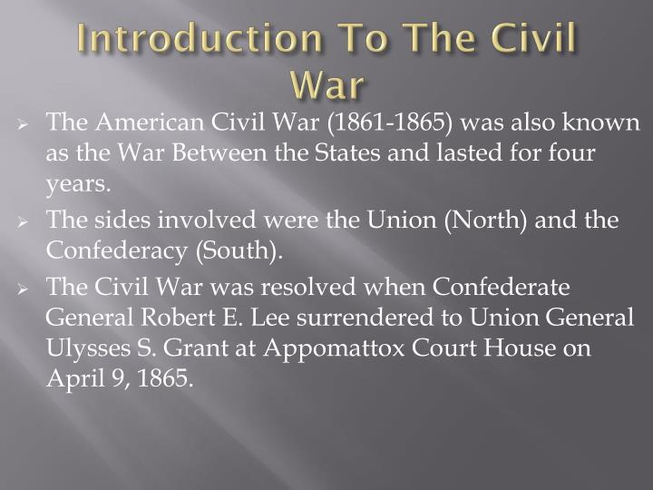 "an analysis of the civil war which is also known as the war between the states Over the issue of state sovereignty and the interpretation of the tenth  amendment (ratified in 1791)  he concludes that the ""civil war was about  slavery, nothing more""  from states that specifically reference slavery as a  cause for seceding but that just proves what we already know: the south wanted  to."