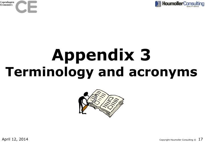 Appendix 3