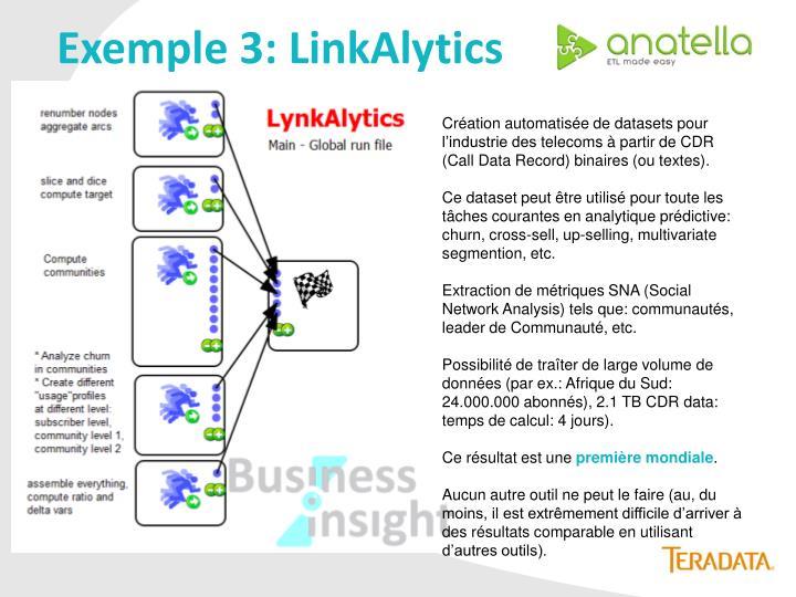 Exemple 3: LinkAlytics