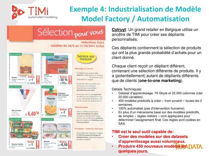Exemple 4: Industrialisation de Modèle
