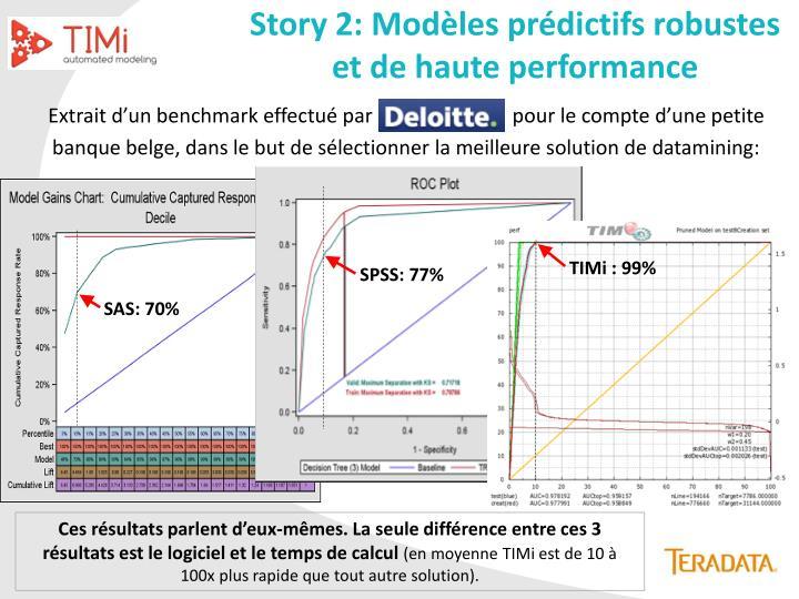 Story 2: Modèles prédictifs robustes