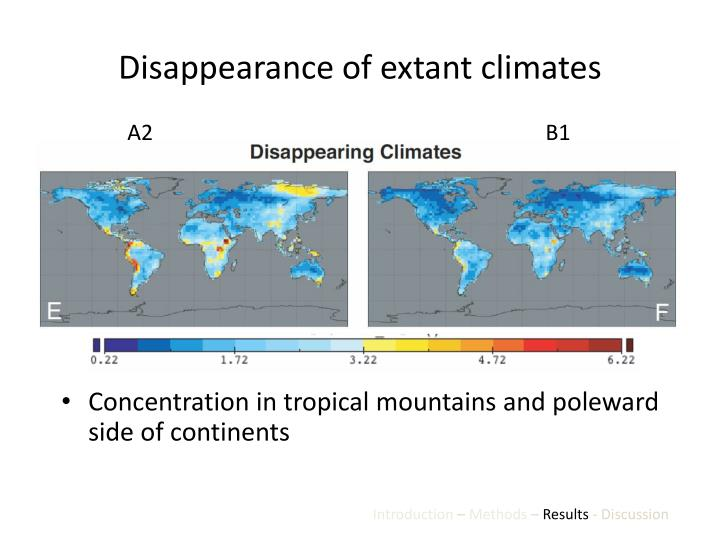 Disappearance of extant climates