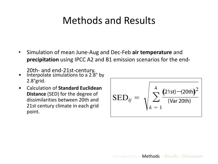 Methods and Results