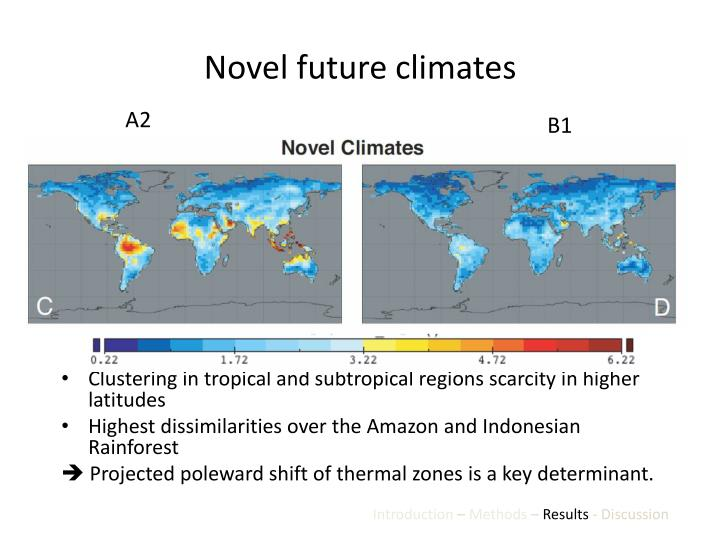 Novel future climates