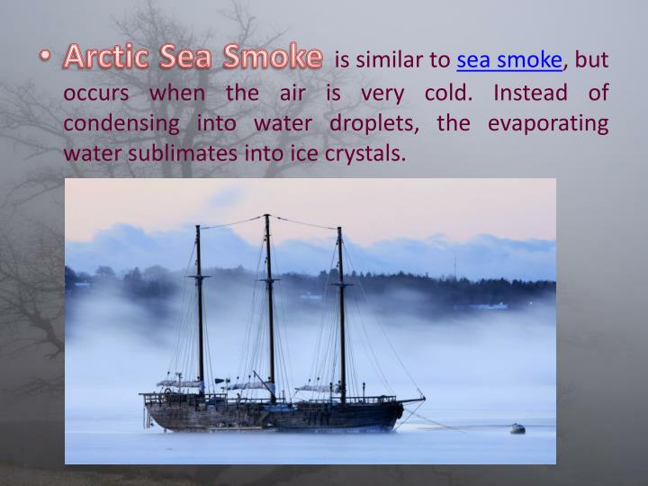 Arctic Sea Smoke