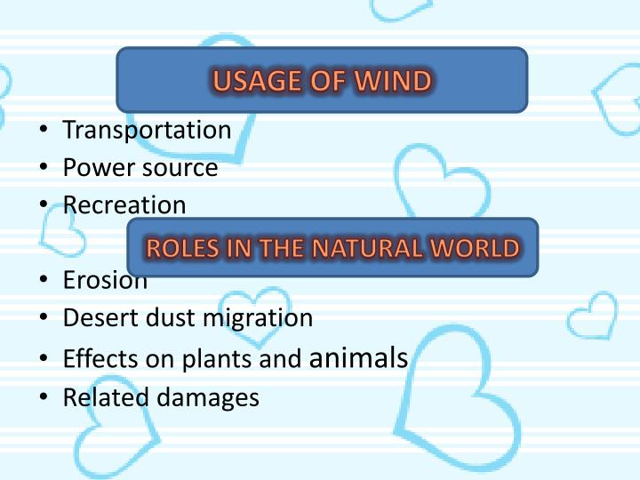 USAGE OF WIND