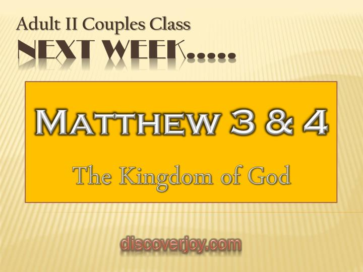 Matthew 3 & 4