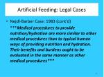 artificial feeding legal cases1