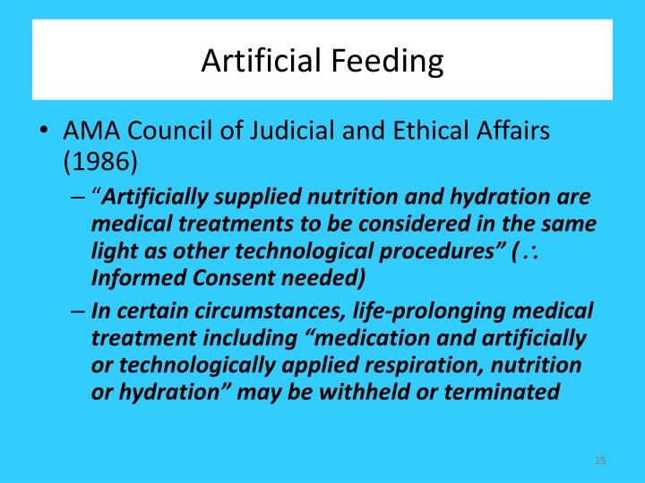 Artificial Feeding