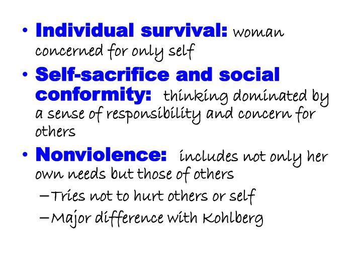 Individual survival: