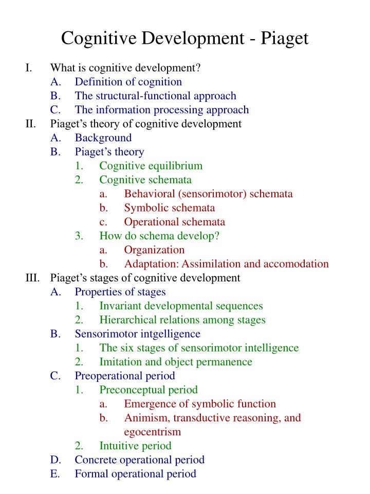 a report on cognitive development 2018-3-2 chapter 2: cognitive development of the grade r-learner and dynamic assessment 25  due to various studies that report on the lack of meta-cognitive.