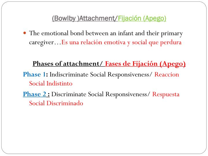 Bowlby attachment fijaci n apego