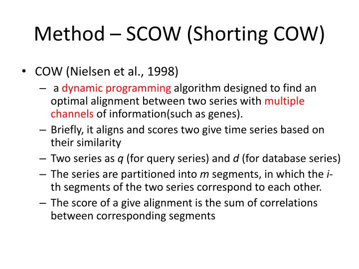 Method – SCOW (Shorting COW)