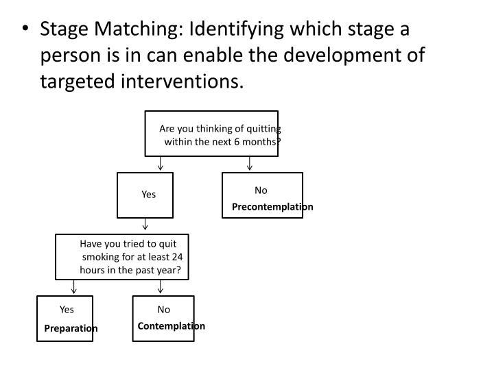 Stage Matching: Identifying