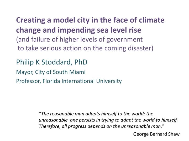 Philip k stoddard phd mayor city of south miami professor florida international university