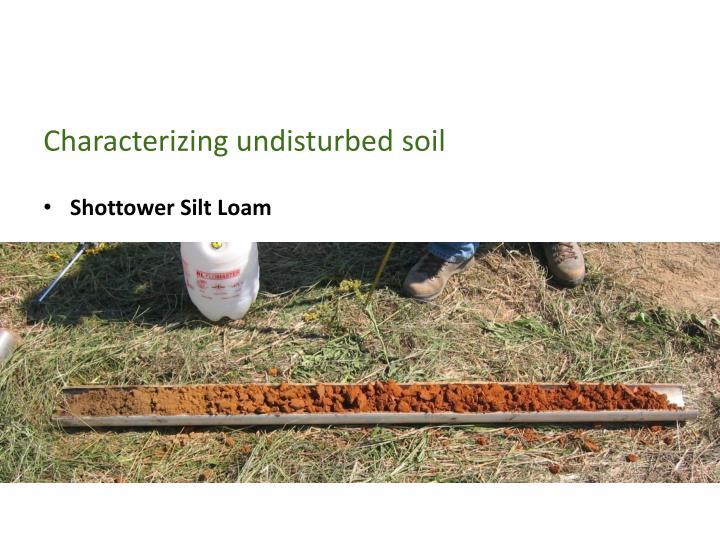 Characterizing undisturbed soil
