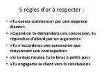 5 r gles d or respecter