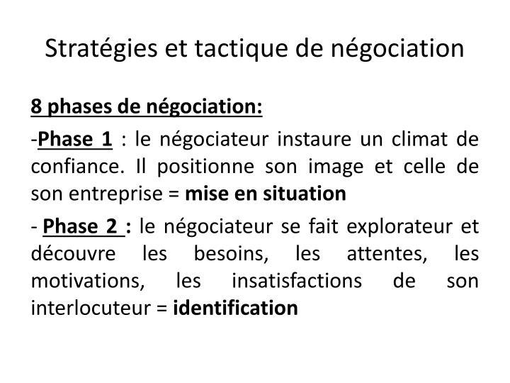 Stratégies et tactique de négociation