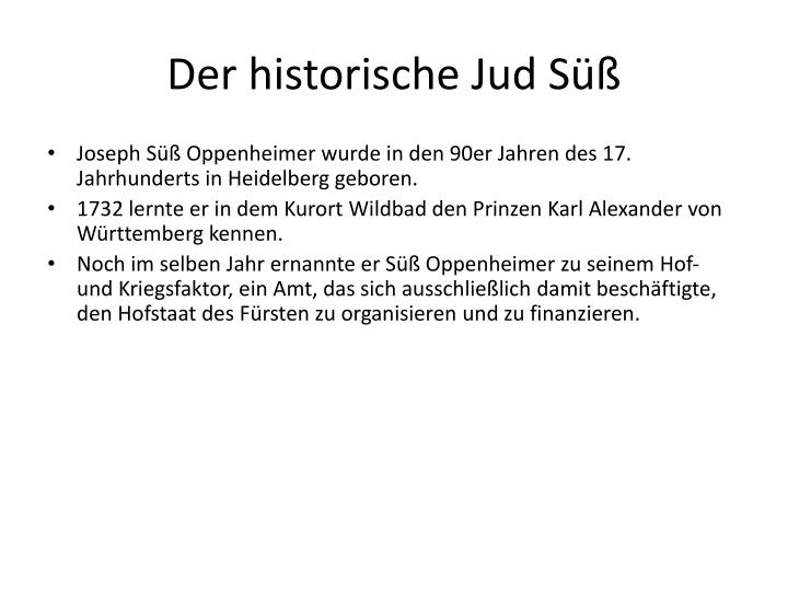 Der historische Jud Süß