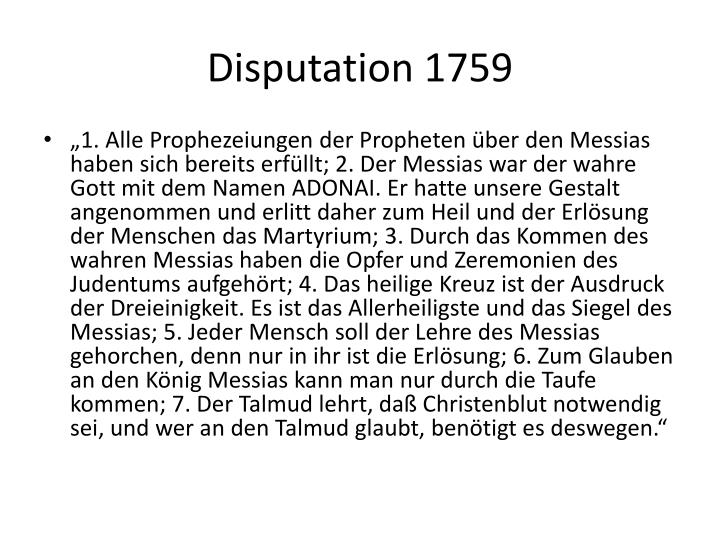 Disputation 1759